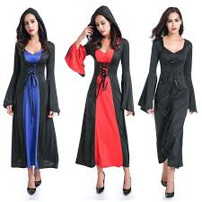 Women's Deluxe Hooded Lace Up Robe <b>Evil Vampire</b> Zombie ...