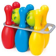 <b>Игровой набор Dolu</b> Большой боулинг из 6 кеглей и 2 шаров ...