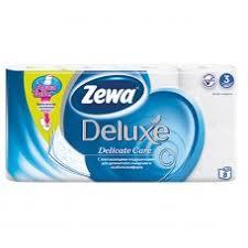<b>Бумага туалетная</b>: <b>Зева</b> ДЕЛЮКС трехслойная белая 8 рулонов ...
