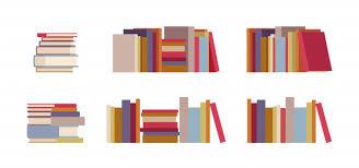 <b>Набор стопок</b> книг | <b>Премиум</b> векторы