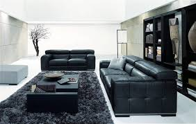 contemporary living room furniture ideas black leather white with black furniture living room black leather living room
