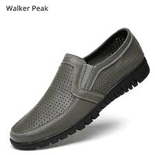 Genuine Leather Men's Casual Shoes <b>Big Size 38-48</b> Loafer Design ...