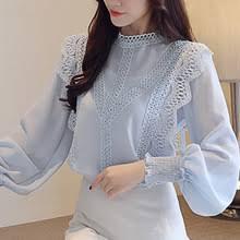 Blusas mujer de moda 2020 white hollow lace <b>chiffon</b> blouse shirt ...