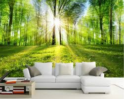 <b>Beibehang Custom Wallpaper Home</b> Decor Mural Sunny Forest ...
