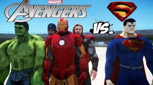the avengers vs superman iron man hulk thor captain america vs man of steel youtube batman superman iron man