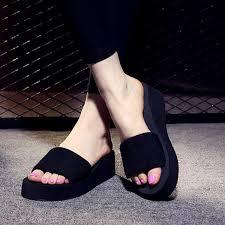2018 <b>Summer Woman Shoes Platform</b> bath slippers Wedge Beach ...