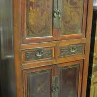 gg6064 chinese qing dynasty decorated cabinet 4 drawers 4 doors 70 x 49 x 176cm high asian style furniture korean antique style 49