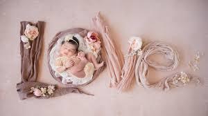 Beautiful <b>Newborn</b> Photoshoot with Adorable <b>Baby Girl</b> - YouTube