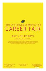 strategic communication career fair to feature a job hunt q a 2016 strategic communication career fair