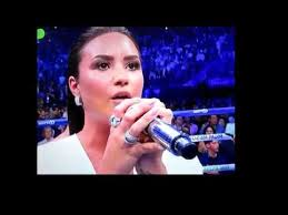 Demi Lovato - Sings US National Anthem Mayweather/Mcgregor ...