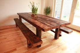 Custom Made Dining Room Furniture Handmade Custom Farmhouse Dining Table And Benches For