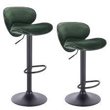 Set of <b>2</b> velvet <b>bar stools</b> - model Fabio | Woltu.eu