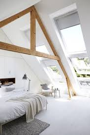 attic living room design youtube: minimalist attic bedroom design with super large windows