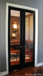 home office doors with glass. glass doors black door with white trim grey walls and dark floors home office f
