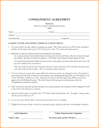 consignment agreement sample memo templates template agreement it