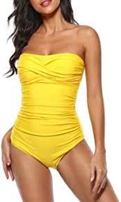 Women's One-Piece Swimsuits - Bandeau / One ... - Amazon.com