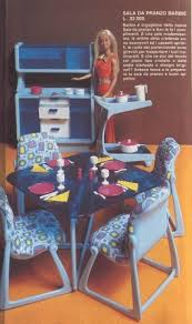 barbie dream furniture collection dining table chairs and hutch ad in spanish i apothecary furniture collection