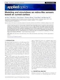 Modeling and simulations on retina-like sensors based on <b>curved</b> ...