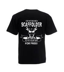 scaffolding scaffolder tshirt gift idea black tshirt mens scaffolding skul