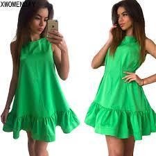 <b>LOSSKY Women Summer</b> Dress Fashion Ruffled A Line Dresses ...