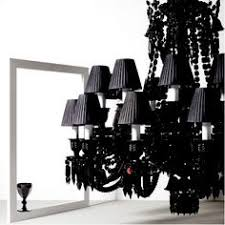 philippe starck reinterprets the black crystal znith chandelier and in 2005 creates the darkside collection baccarat zenith arm black crystal chandelier