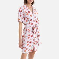 """<b>Платье</b>-рубашка <b>короткое</b> с принтом """"фрукты"""" наб. рисунок ..."""