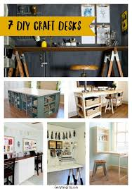7 diy craft desks for your awesome craft room on everythingetsycom awesome craft room