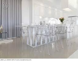 modern transparent molded plastic dining