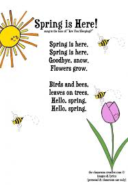 ideas about spring poem on pinterest  fall poems frog  freebie spring song for kids how cute would this be for a morning meeting