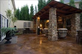 stained concrete patio to match the house stone work browse cement furniture