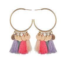 Fashion jewelry Tassel Earrings For Women Ethnic long Big Drop ...