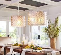 capiz drum pendant pottery barn this is super cool 2 pendantsbut i think beautiful funky dining room lights
