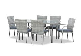 GREY HAMILTON <b>7 Piece Outdoor Dining</b> Setting | Amart Furniture
