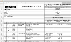 shipments modules commercial invoice packing list