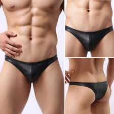 New <b>Summer</b> Men's <b>Sexy PU Leather</b> Briefs Underwear Y-front ...