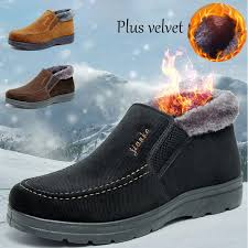 2020 <b>Winter</b> New Cloth <b>Shoes Men's Cotton Shoes</b> Middle-aged ...