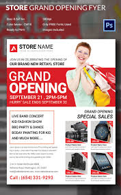 grand opening flyer psd ai vector eps format retail store grand opening flyer