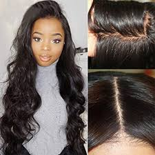 100% Brazilian Virgin Human Hair <b>Full Lace Wig</b> Body Wave Wavy ...