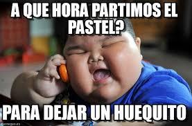 A Que Hora Partimos El Pastel? - Asian Fat Kid meme en Memegen via Relatably.com
