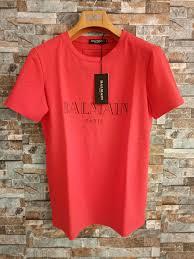 Balmain <b>Mens Designer T Shirts</b> Black White Red <b>Mens Fashion</b> ...
