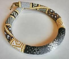 <b>Seed bead necklace</b> | Зразки жгутів | Бисер, Бижутерия, <b>Браслеты</b>