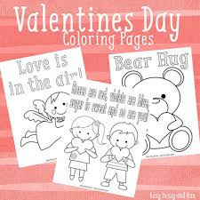 Small Picture 3 Sweet Valentines Day Coloring Pages Easy Peasy and Fun