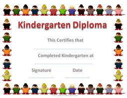 kindergarten graduation certificates kindergarten diploma