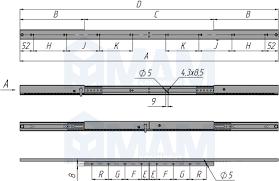<b>Механизм царг</b>. без <b>увеличения</b> длины 550 мм, синхрон ...
