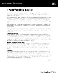 best photos of skills and abilities summary transferable skills transferable skills resume example