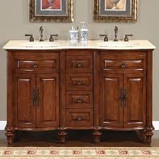 55 inch double sink bathroom vanity:  inch double sink bathroom vanity with cream marfil marble
