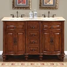 55 inch double sink bathroom vanity:  inch double sink bathroom vanity with cream marfil marble