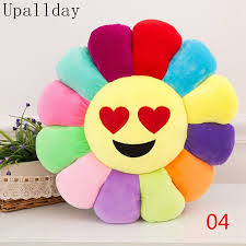 30*30cm Colored flower pillow <b>Funny Cute Flower</b> Shape Cushion ...