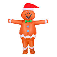 <b>Halloween Inflatable</b> Suit Adult <b>Gingerbread Man</b> Fancy Party ...