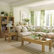 look at this pastel green inspired living room the color combination makes the room look balanced living room
